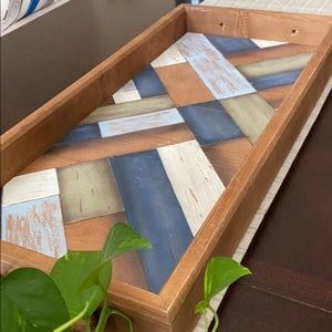 Pier 1 Farmhouse Large Wooden Tray